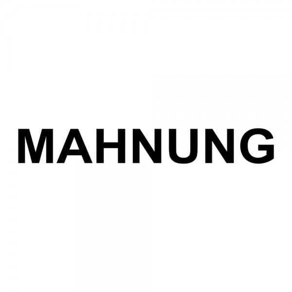Holzstempel MAHNUNG (40x10 mm - 1 Zeile)