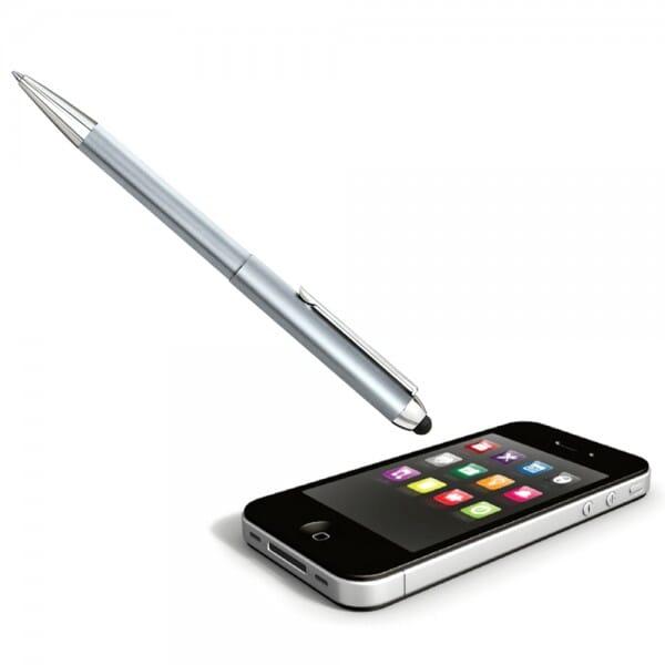 Heri Stamp & Smart Pen 3300 Kugelschreiberstempel Silber (33x8 mm - 3 Zeilen)
