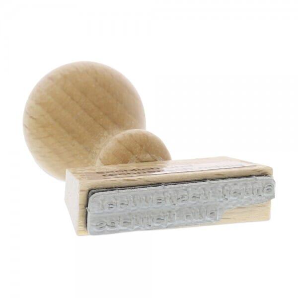 Holzstempel sachlich und rechnerisch richtig (60x10 mm - 1 Zeile)
