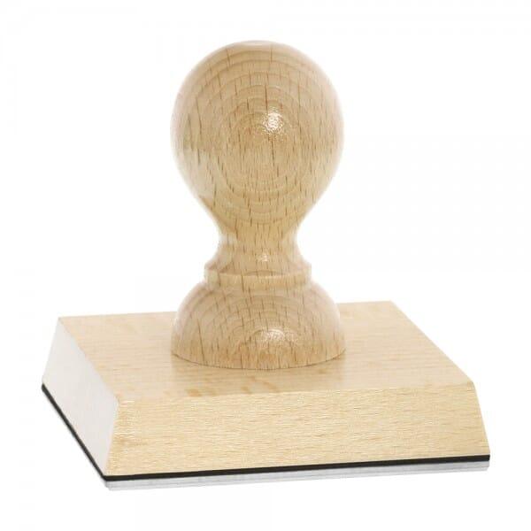 Holzstempel (80x80 mm - 19 Zeilen)