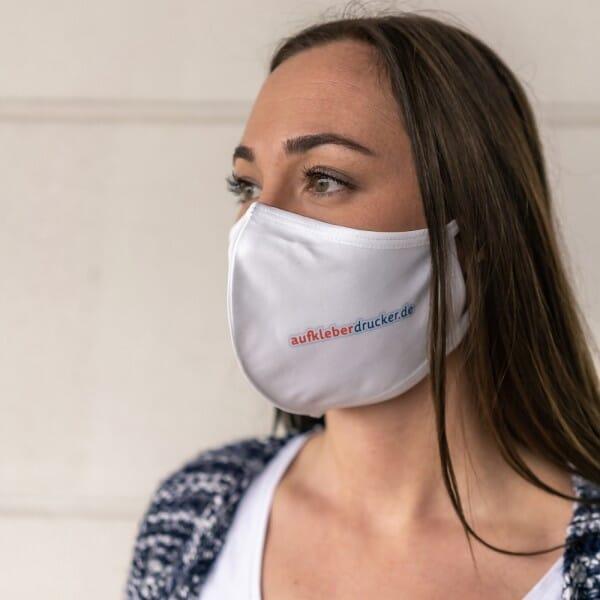 Mund-Nasen Maske / Gesichtsmaske mit individuellem Druck (wiederverwendbar)