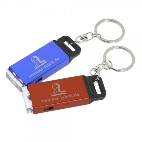 SALE - Schlüsselanhänger mit Taschenlampe (Gravurmaß 35x15 mm)