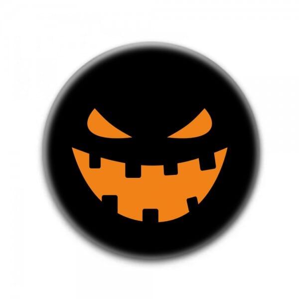 """Buttons für Halloween """"Kürbis"""" (ø 37 mm rund - 10 Stück)"""