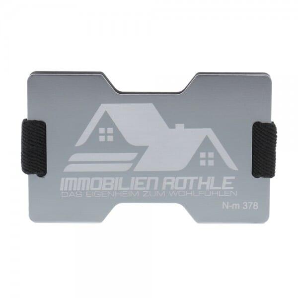 RFID Kartenhalter aus Aluminium (Gravurmaß 70x30 mm)