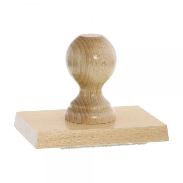 Holzstempel (130x90 mm - 18 Zeilen)