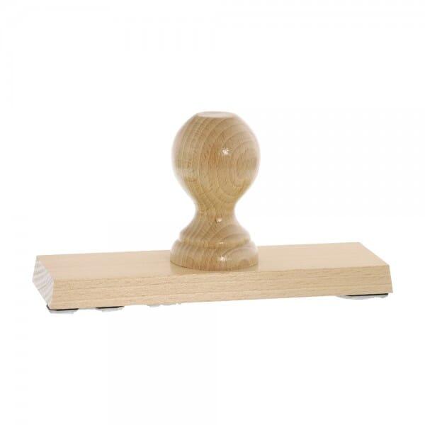 Holzstempel (190x60 mm - 12 Zeilen)
