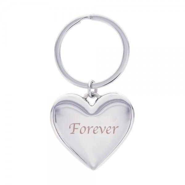 Motiv-Schlüsselanhänger Herz / Forever