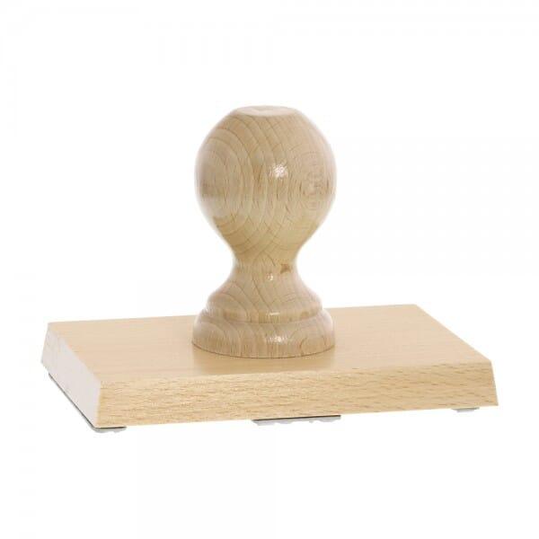 Holzstempel (140x90 mm - 18 Zeilen)