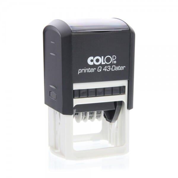 Colop Printer Q 43 Dater (43x43 mm - 8 Zeilen)