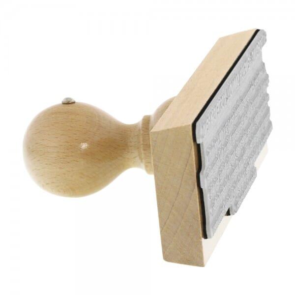 Holzstempel (180x50 mm - 10 Zeilen)