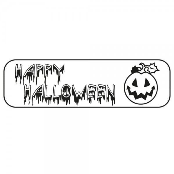 Halloween Holzstempel - Kürbis (70x20 mm)