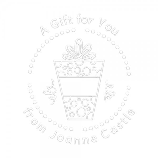 Monogramm-Prägezange 51 mm rund - Ein Geschenk für dich!