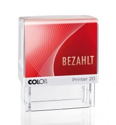 Colop Printer 20 LGT BEZAHLT (38x14 mm)