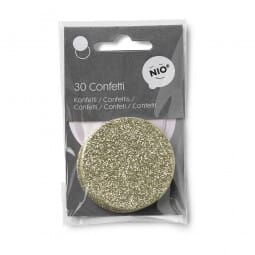 NIO Konfetti Rose/Gold (ø 50 mm - 2x15 Stück)