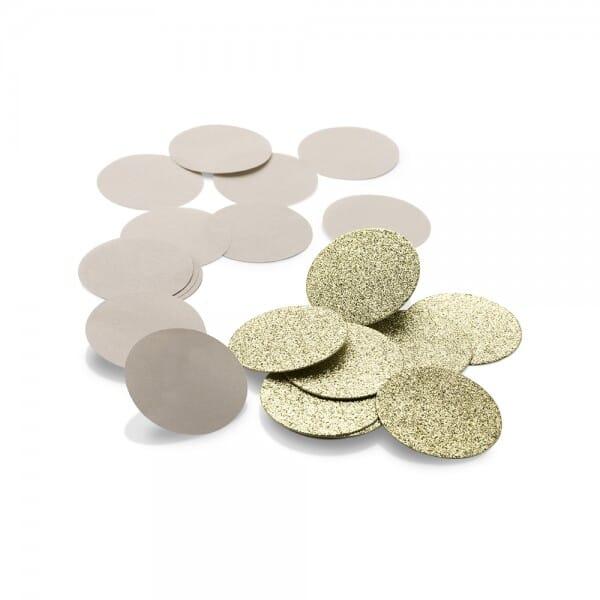 NIO Konfetti Craft/Gold (ø 50 mm - 2x15 Stück)