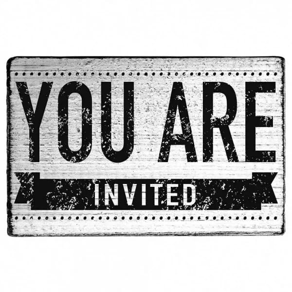 "Vintage Stempel ""You are invited"" Motiv 2"