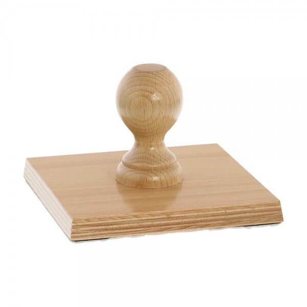 Holzstempel (150x150 mm - 30 Zeilen)