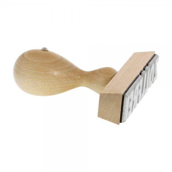 Holzstempel (130x20 mm - 4 Zeilen)