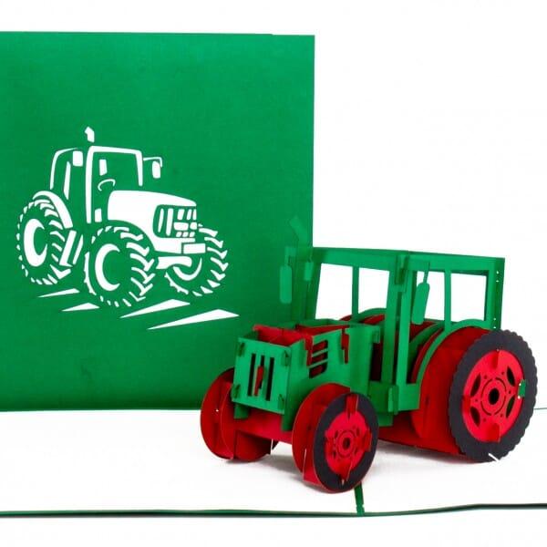 Colognecards Pop-Up Karte Traktor