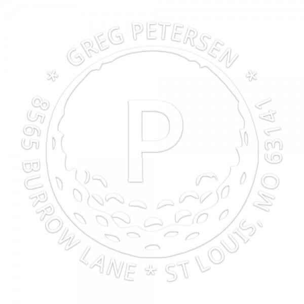 Monogramm-Prägezange 51 mm rund - Golf