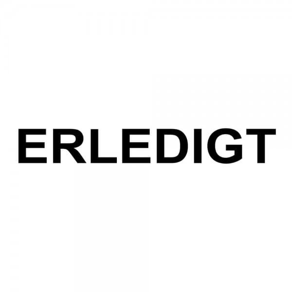 Holzstempel ERLEDIGT (40x10 mm - 1 Zeile)