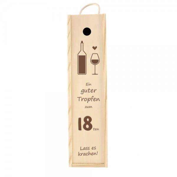 Weinkiste/Geschenkkiste zum 18. Geburtstag