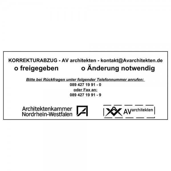 Holzstempel (190x80 mm - 16 Zeilen)