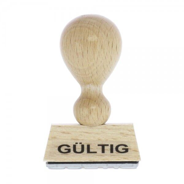 Holzstempel GÜLTIG (40x10 mm - 1 Zeile)