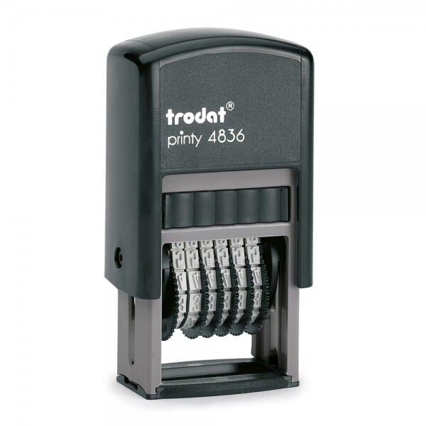 Trodat Printy 4836 Ziffernbandstempel (SH 3,8 mm - 6 Stellen) bei Stempel-Fabrik