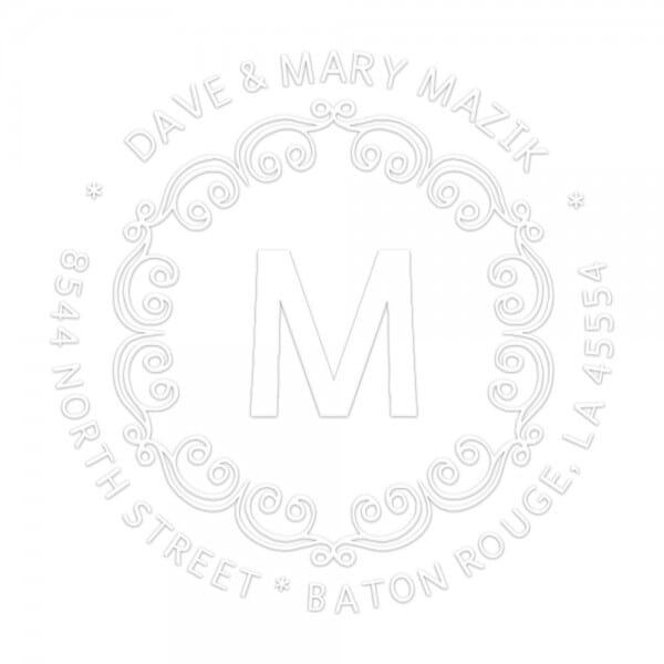 Monogramm-Prägezange 51 mm rund - Dekorative Bögen mit Initialen