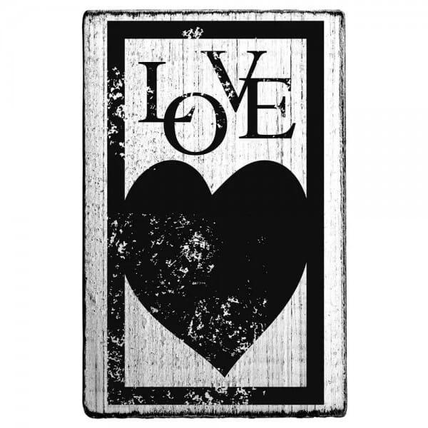 "Vintage Stempel ""Love"" - Herzen/Rahmen"