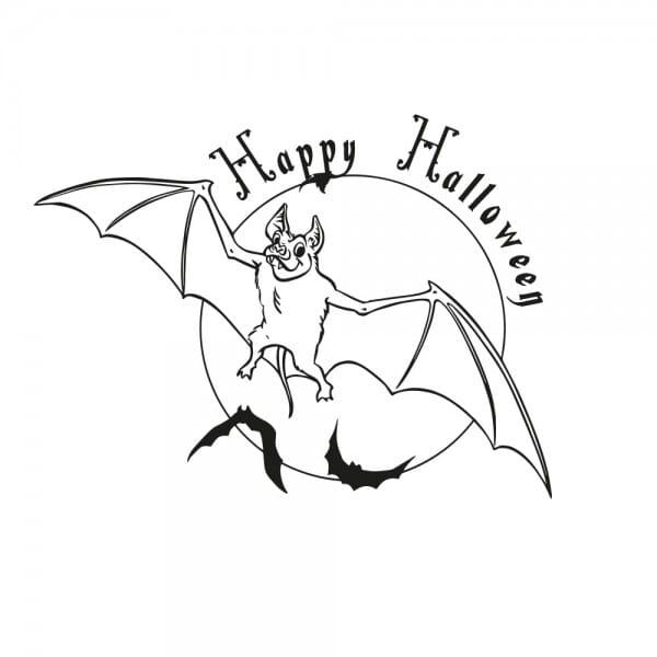 Halloween Holzstempel - Fledermaus (Ø 40 mm)