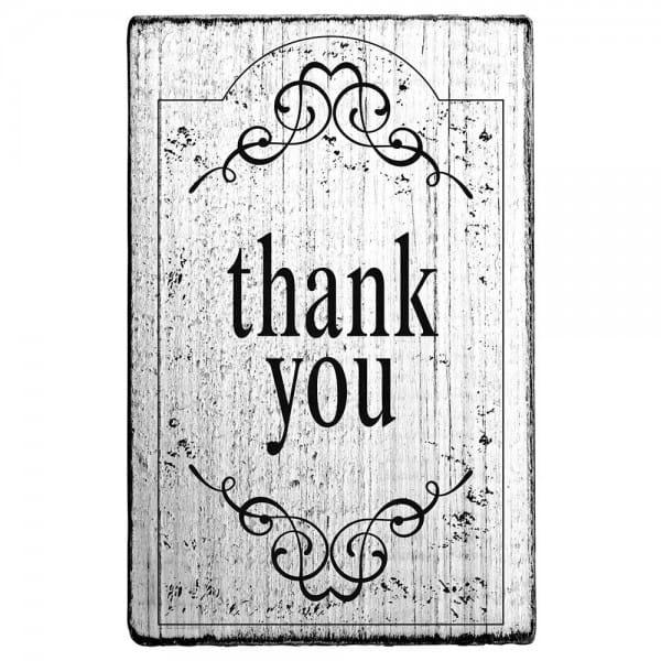 "Vintage Stempel ""THANK YOU"" Motiv 3"