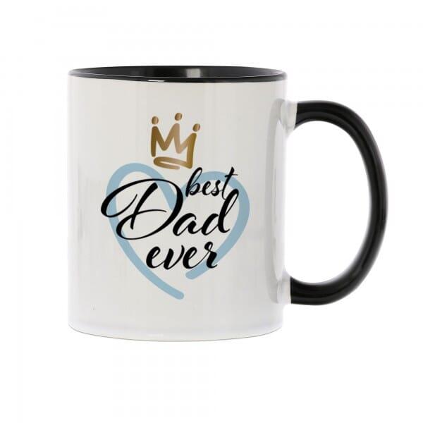 """Keramiktasse schwarz """"best Dad ever"""""""