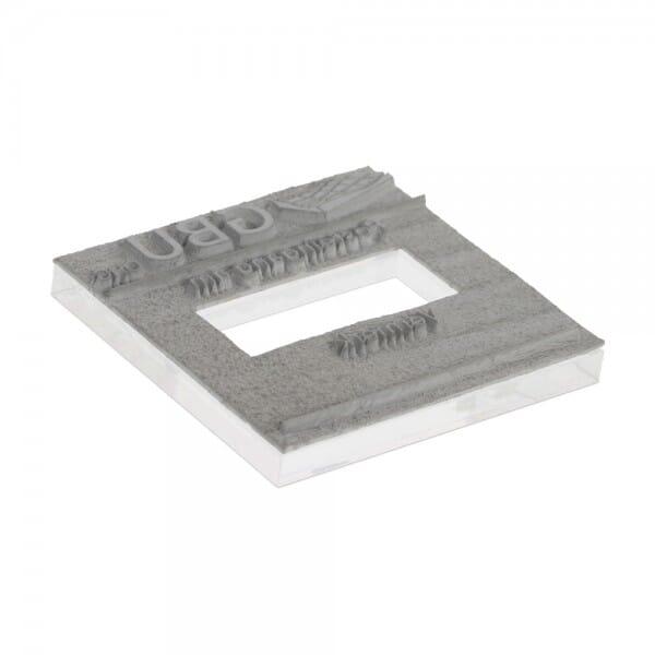Textplatte für Colop Printer Q 43 Dater (43x43 mm - 9 Zeilen) bei Stempel-Fabrik