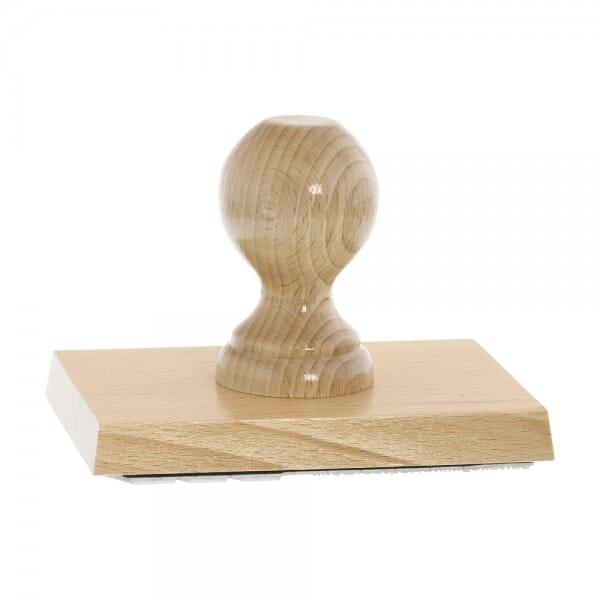 Holzstempel (140x100 mm - 20 Zeilen)