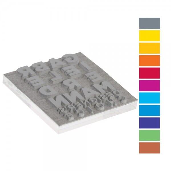 Textplatte für Trodat Mobile Printy PREMIUM 9425-1 (25x25 mm - 6 bei Stempel-Fabrik