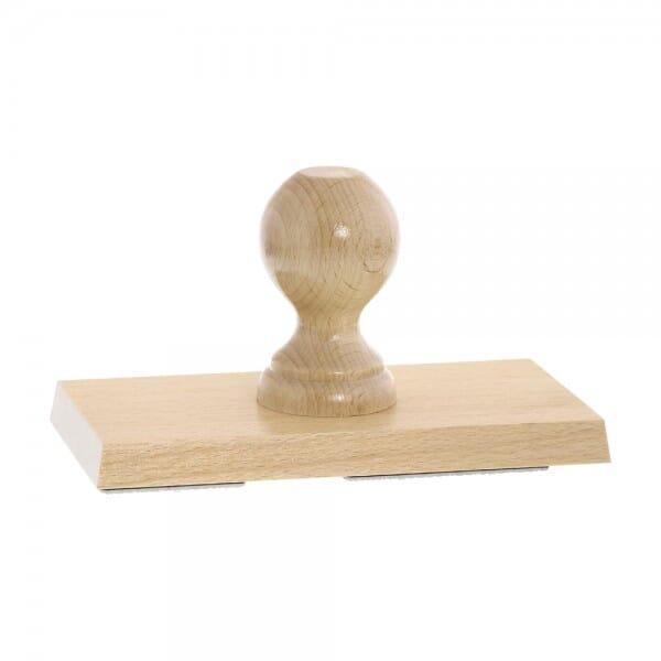 Holzstempel (180x90 mm - 18 Zeilen)