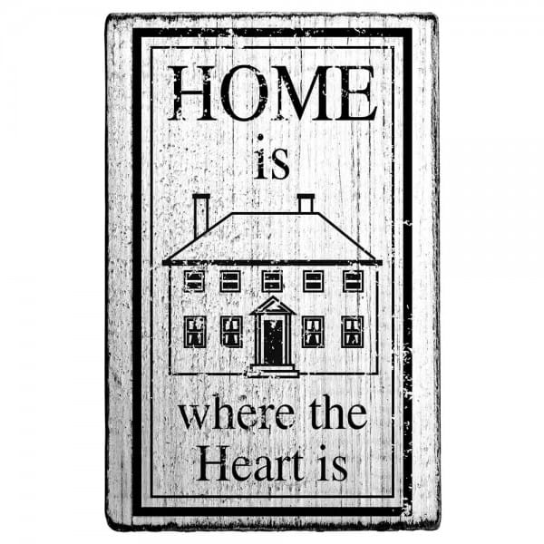 "Vintage Stempel ""Home is where the heart is"""