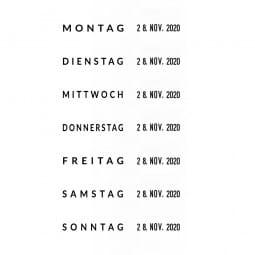 Trodat Printy 4817/B (4812) Dater und Wochentagen( 25x3,8 mm)