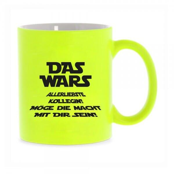 "Keramiktasse Neon Beste Kollegin ""Das wars"""