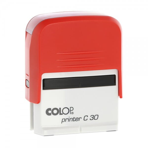 SALE - Colop Printer C30 rot/rot (47x18 mm - 5 Zeilen) bei Stempel-Fabrik