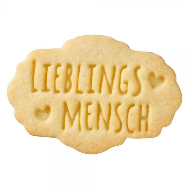 Birkmann Keksstempel mit Lieblings Mensch Motiv (75x47 mm)