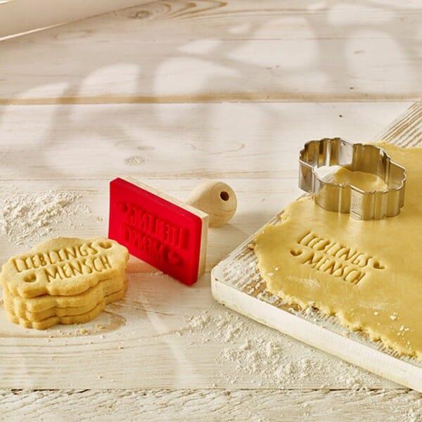Ausstechring für Keksstempel Etikett Posie (80 mm)