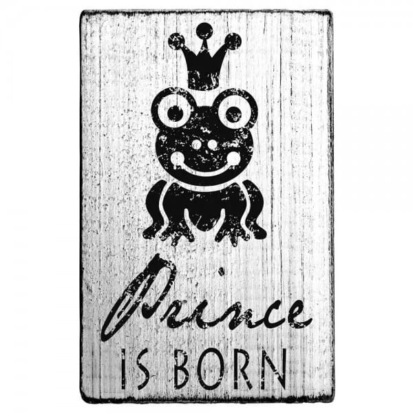 "Vintage Stempel ""Prince is born"""
