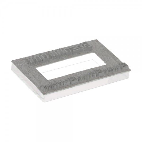 Textplatte für Colop Printer 60 Doppeldatum (76x37 mm - 7 Zeilen bei Stempel-Fabrik