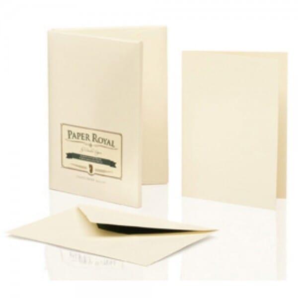 Kartenmappe chamois / grün (8 Karten - 8 Briefumschläge)