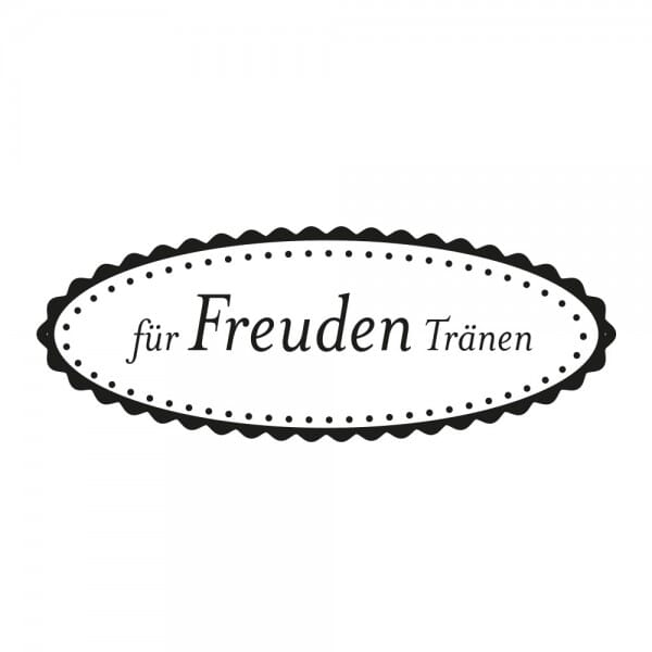 Hochzeitsstempel - Freudentränen Motiv 2 (40x10 mm)