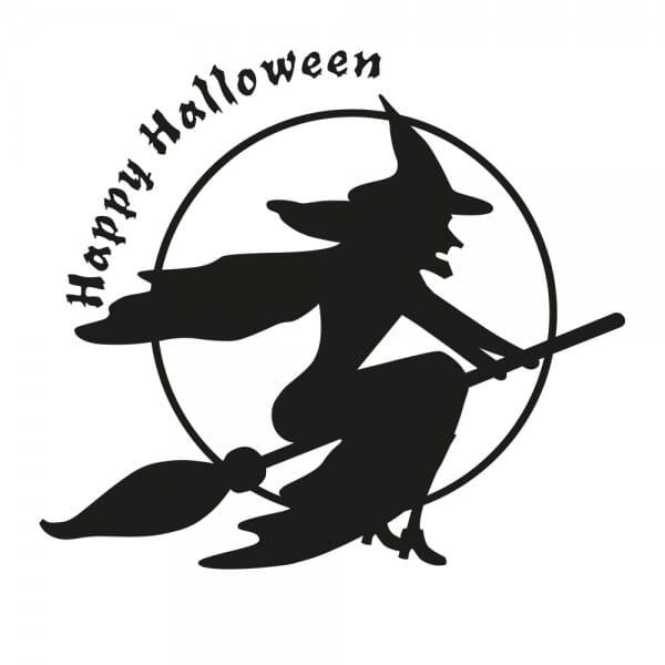 Halloween Holzstempel - Hexe (50x50 mm)