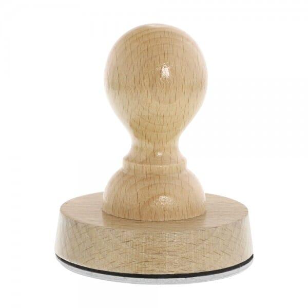 Holzstempel rund (Ø 70 mm - 14 Zeilen)